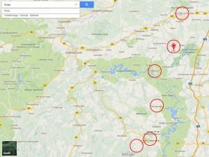 Karte Thueringen Rennrad Tour