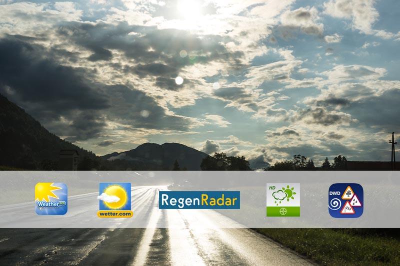 Wetter-Apps für Rennradfahrer