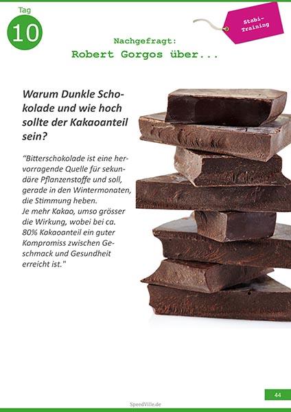 Dunkle Schokolade für Radsportler