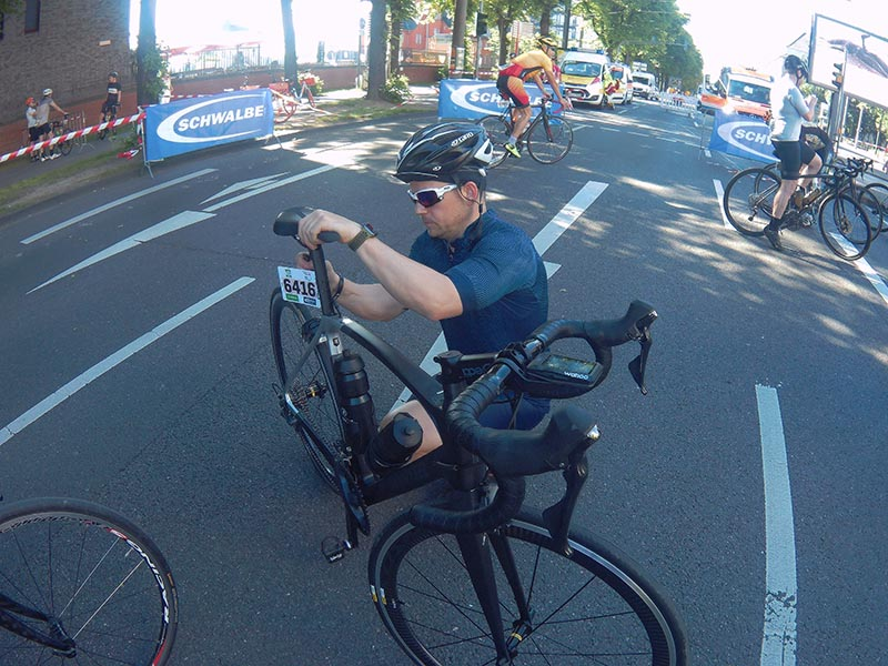 Kante Kowalskyie mit Van Rysel Bike