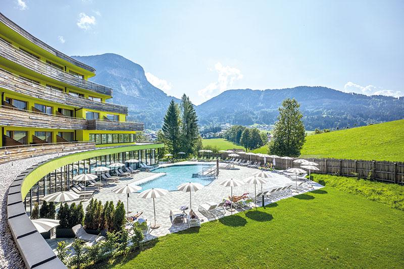 Pool im Das Sieben Hotel