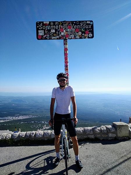 Julian hat den Mont Ventoux erreicht