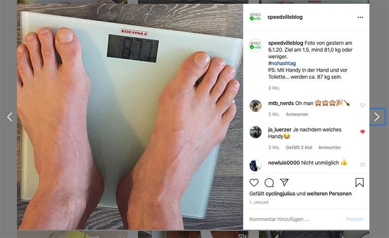 Gewicht abnehmen für den Ötztaler
