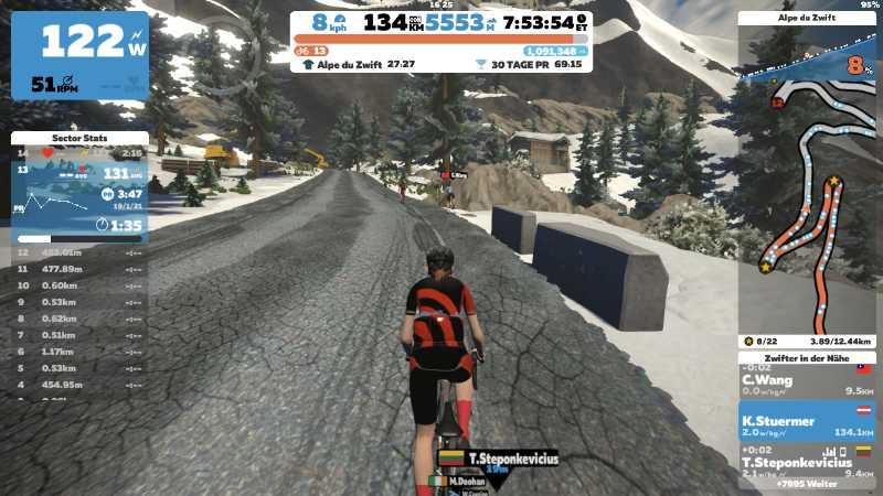 Alpe du Zwift Everesting