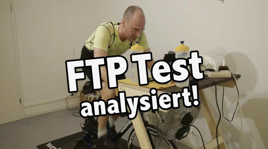 FTP Test auf Zwift