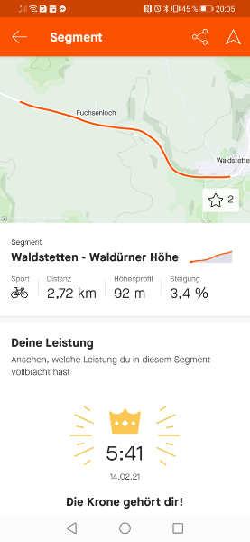 Waldürner Höhe KOM