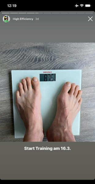 Senkung des Gewichts mit unserem Trainingsplan