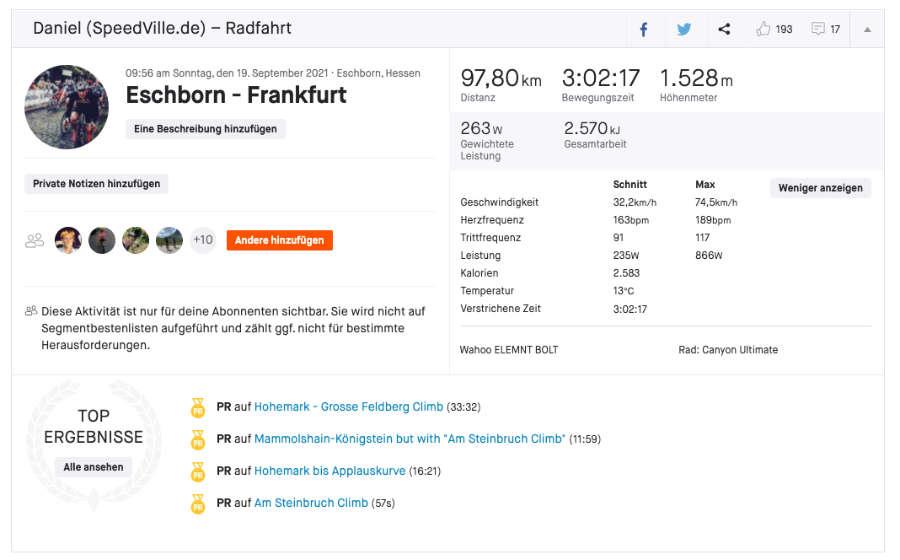 Eschborn-Frankfurt Rennanalyse